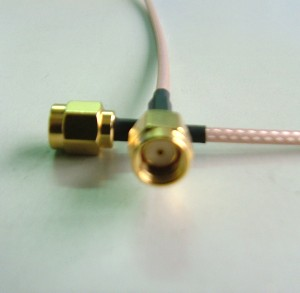 RP SMA(M) st. for RG174/RG316 cable(gold)