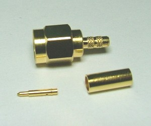 RF Connector SMA straight plug/male crimp type for RG174